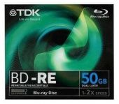 Диск BD-RE DL TDK 50ГБ 1x-2x BD-RE50JC2XE
