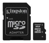 Карта памяти Micro SDHC Kingston 8ГБ SDC4/8GB