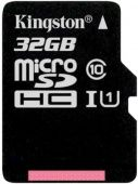 Карта памяти micro SDXC Kingston 32Gb KCanvas Select SDCS/32GBSP