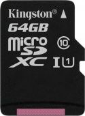 Карта памяти micro SDXC Kingston 64Gb SDCS/64GBSP